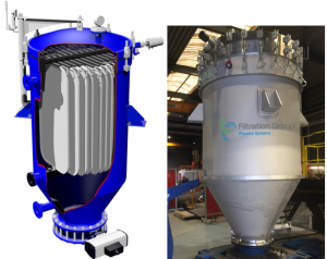 Filtro Pressure Leaf Filter® vertical de Filtration Group (www.filtration.group)